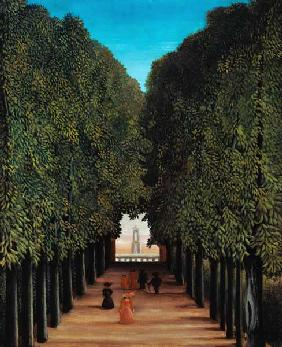 H.Rousseau, Allee in Park Saint-Cloud