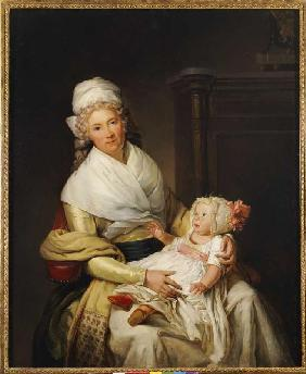 Portrait of Constantia Foster with her son