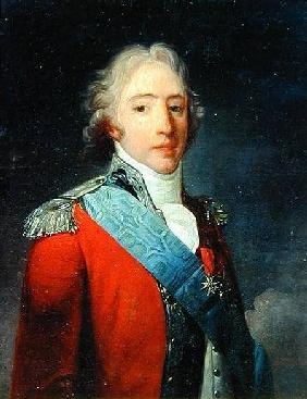 Portrait of Charles of France (1757-1836), Count of Artois, future Charles X King of France and Nava