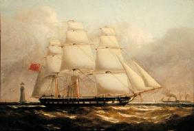 Luscombe, Henry A. : A Frigate off the Eddyston...