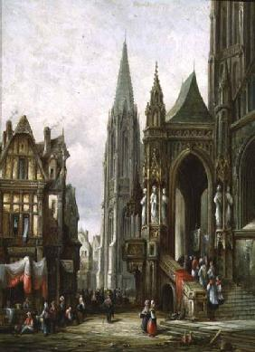 Ecclesiastical Procession Entering a Cathedral
