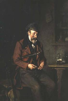 A Fiddler Counting his Tips