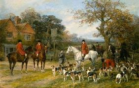Heywood Hardy - Meeting before the fox-hunt.
