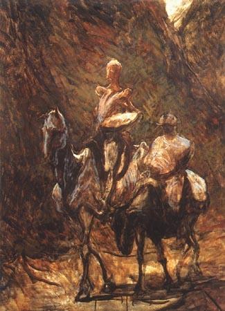Quijote Y Sancho Pintura