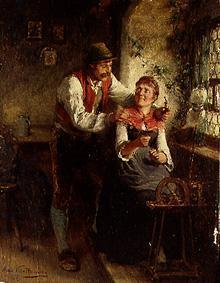 Young couple at the window