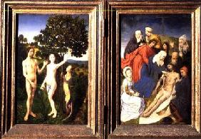 Diptych of The Fall of Man and The Redemption (Lamentation of Christ)