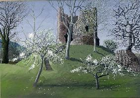 Longtown Castle, 1992 (gouache on card)