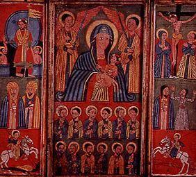 Madonna with apostles