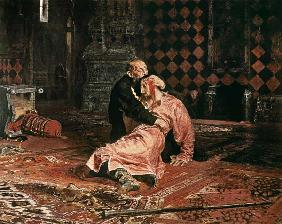 Tsar Ivan the terrible with his son Ivan on Novemb