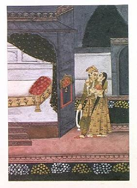 A Couple, illustration from the 'Malavi Ragini'