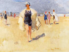Lady on the Beach at Viareggio