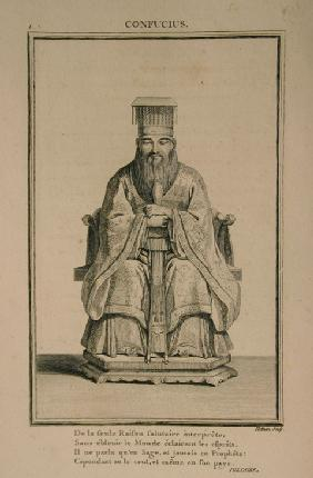 Portrait of the Chinese thinker and social philosopher Confucius
