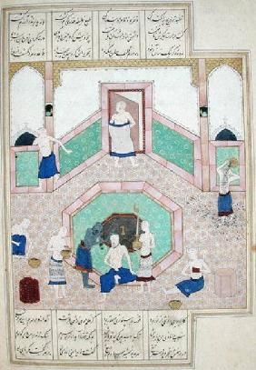 Ms D-212 fol.28b The Turkish Bath