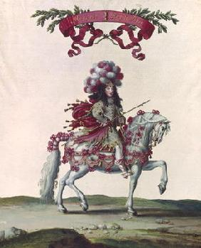 Philippe I (1640-1701) Duke of Orleans as the King of Persia, part of the Carousel Given by Louis XI