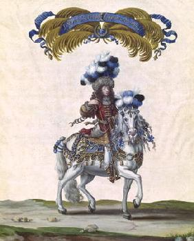 The Prince of Conde as the Emperor of Turkey, part of the Carousel Given by Louis XIV (1638-1715) in