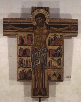 Crucifixion with Stories of the Passion, School of Lucca