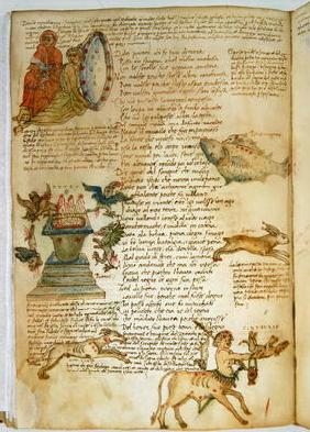 Ms Ital 483 P.4.7 f.162v Constellations, from the 'Dittamondo' by Fazio degli Uberti (vellum)