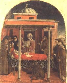 The Funeral of St. Jerome, Ferrarese School, 1450