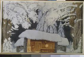 Stage design for the theatre play Military commander Suvorov