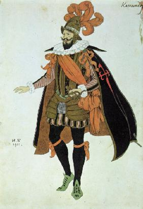 Commander. Costume design for the play Fuente Ovejuna by Lope de Vega