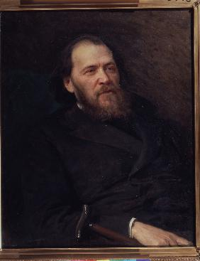 Portrait of the poet Yakov Polonsky (1820-1898)