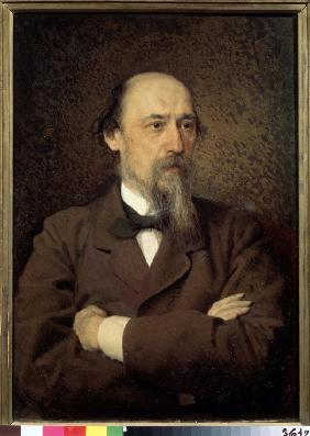 Portrait of the poet Nikolay Nekrasov (1821-1877)