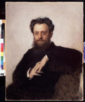 Portrait of the art historian, professor Adrian Prakhov (1846-1916)