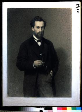 Portrait of the artist Mikhail K. Clodt (1832-1902)