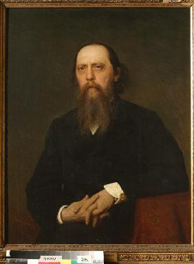 Portrait of the author Mikhail Saltykov-Shchedrin (1826-1889)