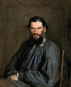 Portrait of Count Lev Nikolaevich Tolstoy (1828-1910)