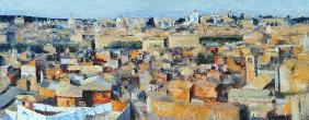 Rome, View from the Spanish Academy on the Gianicolo, 1968 (oil on canvas) (see also 213353 & 213354