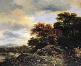 Landscape with Wooded Hillock