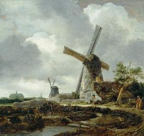 Landscape with Windmills, near Haarlem