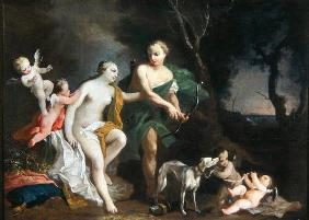Venus and Adonis, c.1750 (oil on canvas)