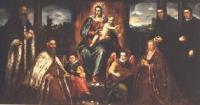 Doge Alvise Mocenigo and Family with Senator Loredama before the Madonna and Child