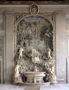 Fountain in the form of a grotto from the 'Sala d'Ercole' (Hall of Hercules) designed