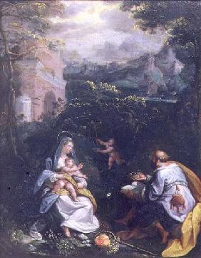 Rest on the Flight into Egypt (panel)