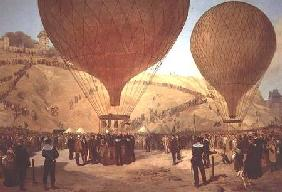 The Departure of Leon Michel Gambetta (1838-82) in the Balloon 'L'Armand-Barbes'