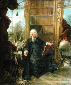 Abbot Nollet (1700-70) in his study, in chateau de la Muette optical pavilion
