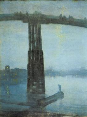 The old Battersea bridge -- nocturne blue and gold