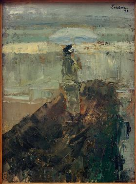 The lady on the breakwater