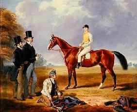 Dr. Fothergill Rowlands of Nantyglo on Tom Llewelyn Brewer's Horse, 'Bold Navy'
