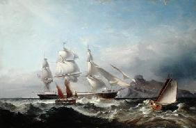 Harris of Swansea, James : A Clipper Ship off the Mum...