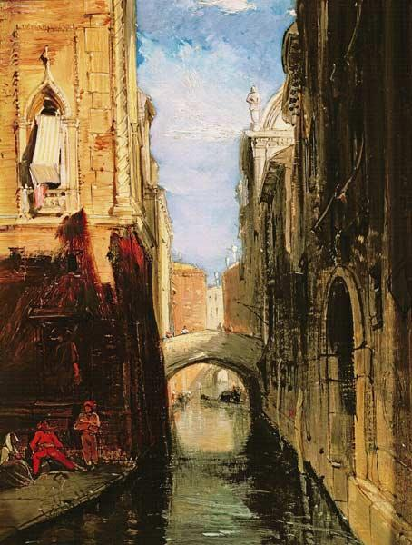 A Side Canal, Venice