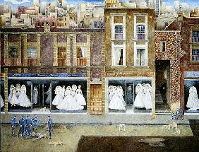 An Incident in the Street of Brides, 2001 (oil on canvas)