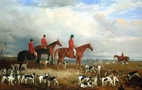 Samuel A. Reynell, Master of the Meath Hunt, with Archerstown in the distance