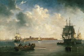 James Wilson Carmichael - Port of Hartlepool with ships