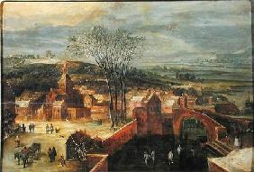Landscape with Skaters