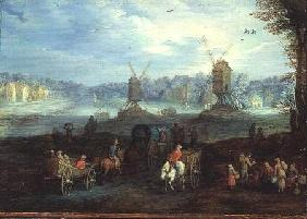 Landscape with Windmills (panel)