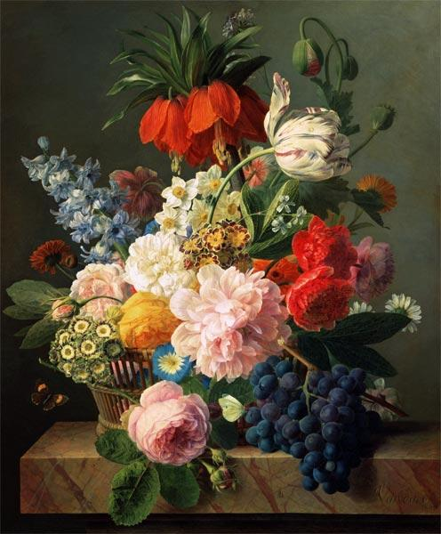 Flowers and fruits 1827
